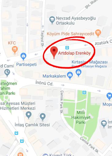 erenkoy map min - Mağazalar