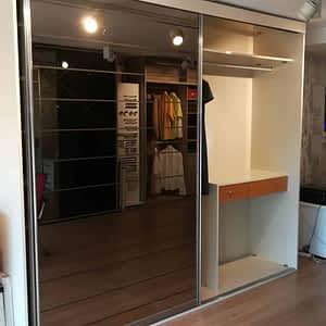 7 300x300 - Çizgili Aynalı 2 Kapaklı Dolap