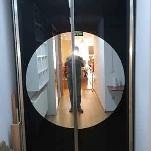 1 300x300 - Yuvarlak Aynalı Giyinme Dolabı